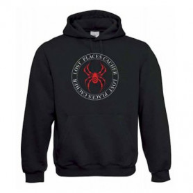 """Hoody """"Lost Places"""" - spider red"""