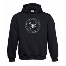 """Hoody """"Lost Places"""" - spider white"""