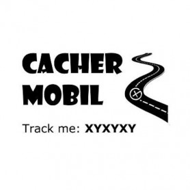 Cacher-Mobil trackable sticker