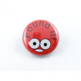 Button - Found It - Red
