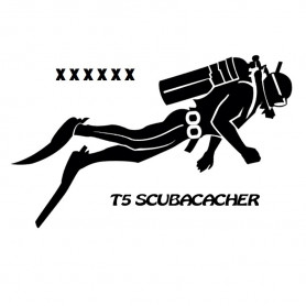 T5 Scuba trackable sticker