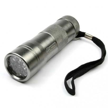 UV lamp 12 LED zilver, incl batterijen