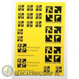 Stickervel A5 - Geel
