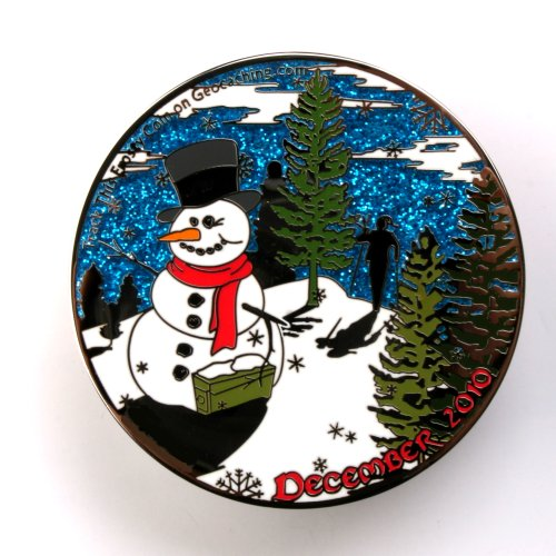 Winter Caching Geocoin