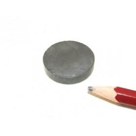 Schijfmagneet, 25 x 5 mm - 5 stuks - Ferriet