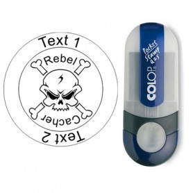 Log stempel - Rebel Cacher - 25 mm Rond