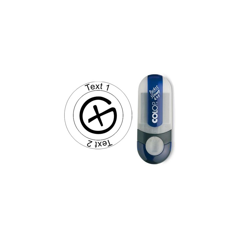 Geocaching Logo - stempel, rond Ø 25mm (Nr. 03)