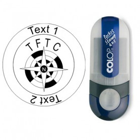 TFTC Kompas - Stempel met Text , Ø 25mm (Nr. 14)