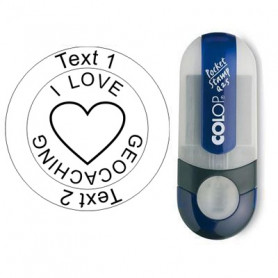I Love Geocaching - Stempel, rond Ø 25mm (Nr. 19)
