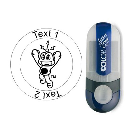 Signal - stamp with text, round Ø 25mm (Nr. 06)