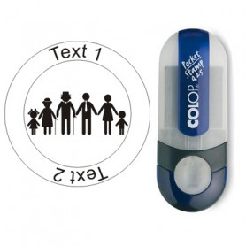 Caching Family - Stempel mit Text, Ø 25mm (Nr. 51)
