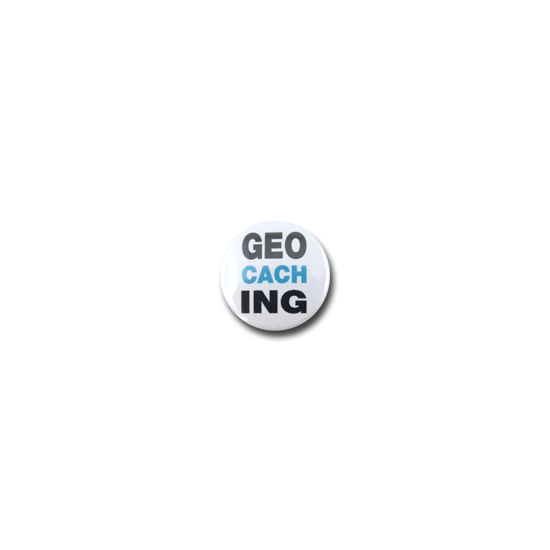 Geocaching - Button, blauw (Nr. 40)