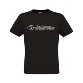 Logo + Koordinaten , T-Shirt (zwart)