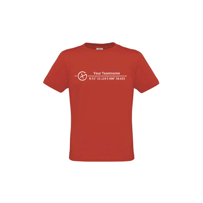 Logo + Koordinaten, T-shirt (red)