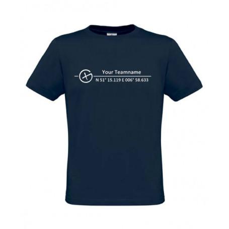 Logo + Koordinaten, T-Shirt (blue)