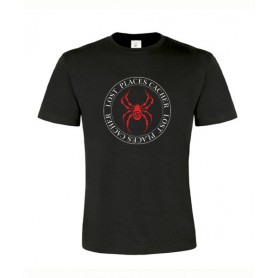 Lost Places Spider, T-Shirt (schwarz/rot)