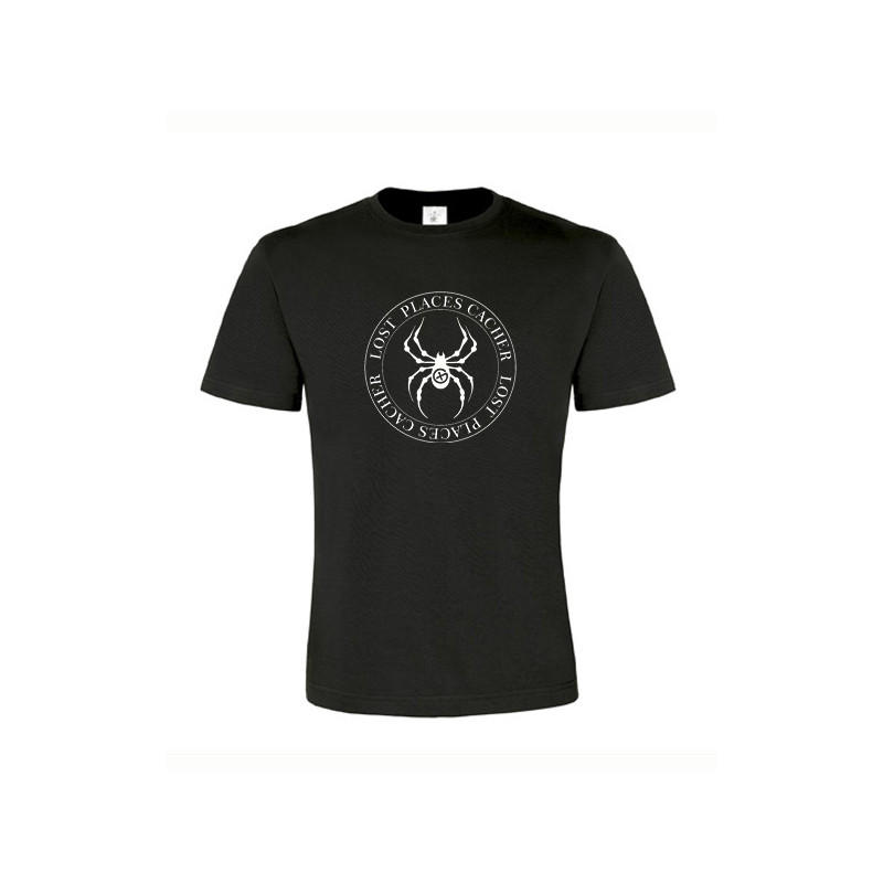 Lost Places Spider, T-Shirt (black/white)