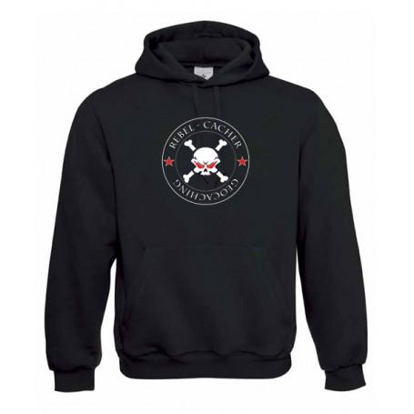 Rebel Cacher, Kapuzen-Pullover (schwarz/rot)