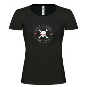Rebel Cacher - Girlie Shirt (schwarz/rot)