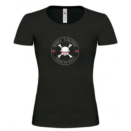 Rebel Cacher - Girlie Shirt (schwarz/rot)
