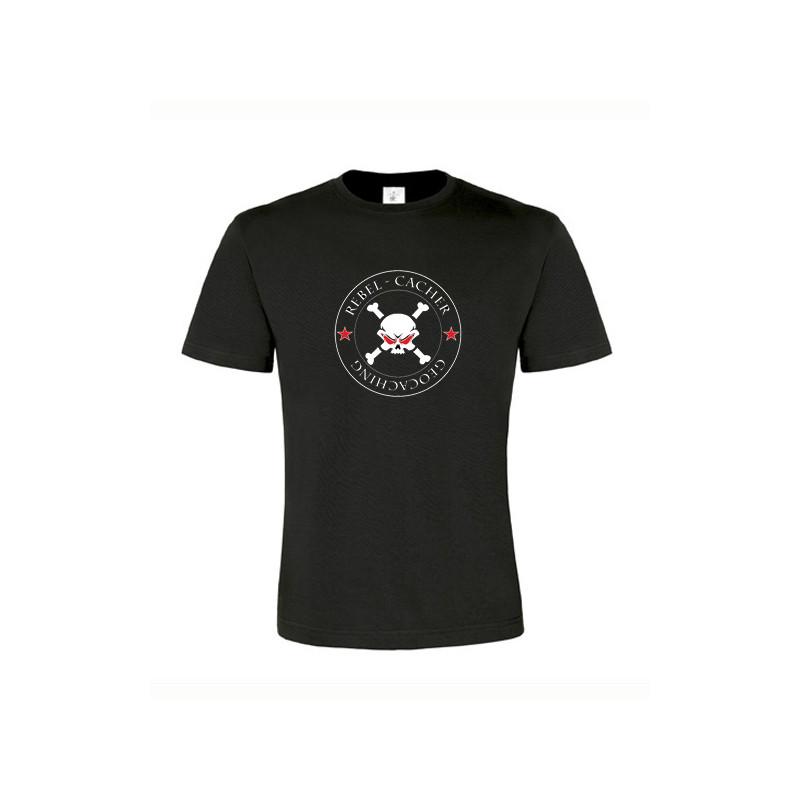 Rebel Cacher, T-Shirt (schwarz/rot)