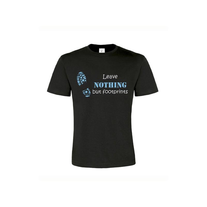 Footprints, T-Shirt (zwart/blauw)