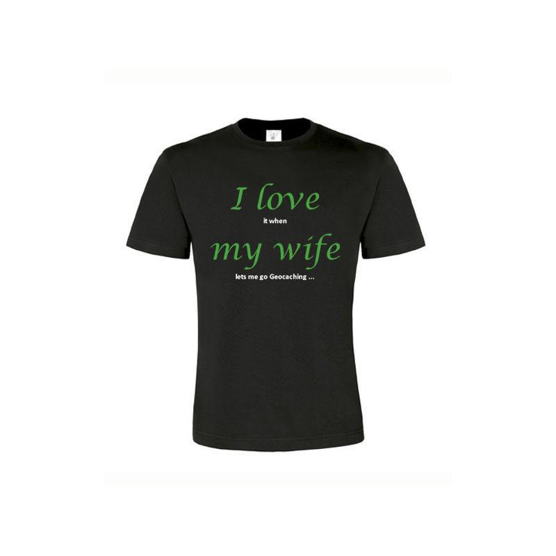 I love my wife, T-Shirt (black/green)