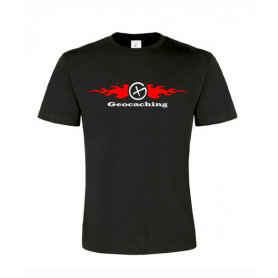Flames, T-Shirt (schwarz/rot)
