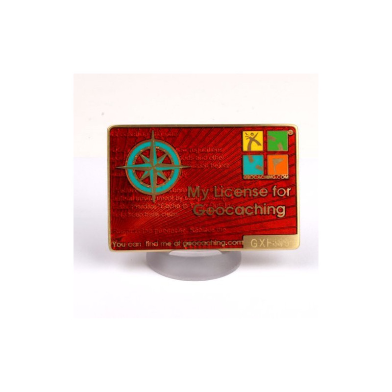 My Geocaching License - Rood