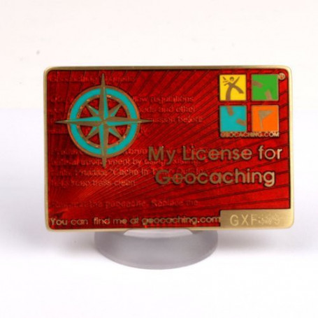 My Geocaching License - Rot