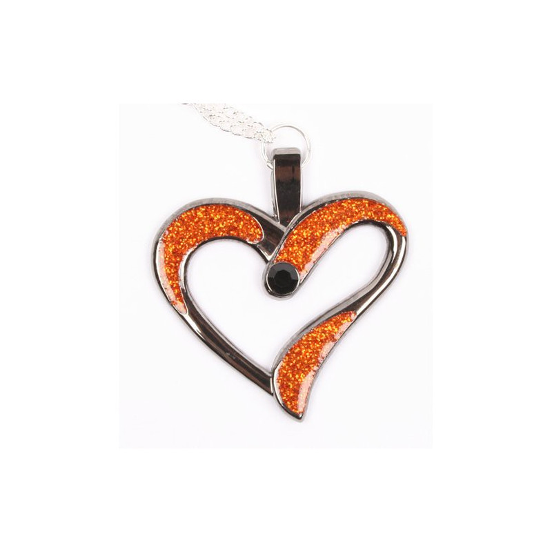 Eternal Love Geocoin 2015 - Black Nickel - Orange
