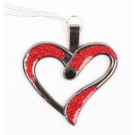 Eternal Love Geocoin 2015 - Black Nickel - red