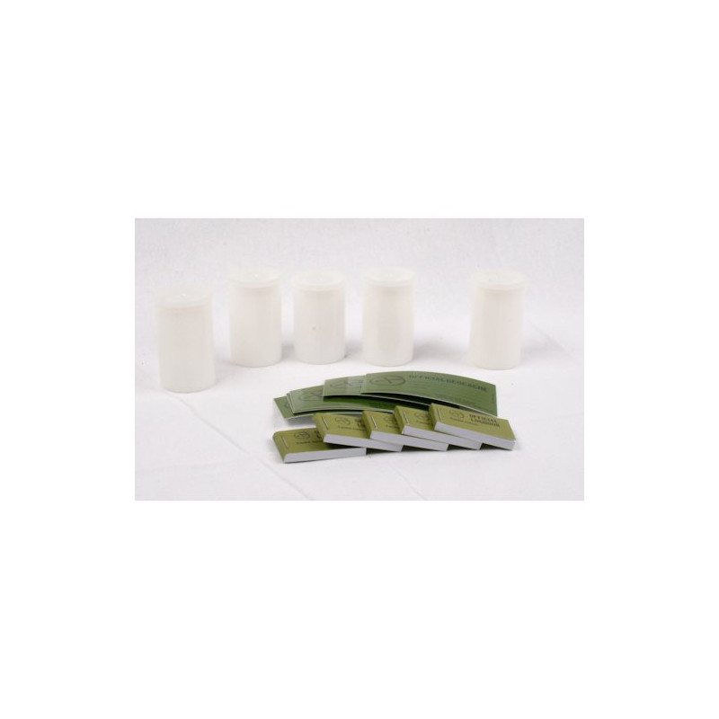 5x Filmcanister Set - White, Logbook and sticker