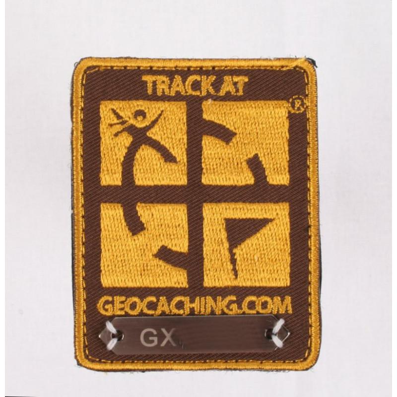 Trackable Aufnäher Braun
