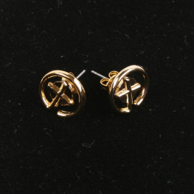 Geocaching - Earrings - small - gold