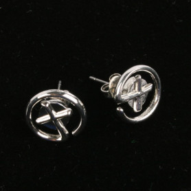 Geocaching - Earrings - klein - silber