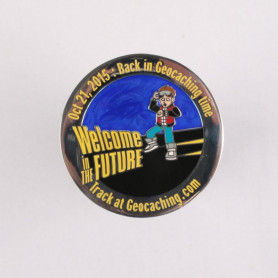 It's Geocaching Time Geocoin Polished Silver LE