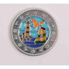 Boat-Lighthouse Suncatche Polished Silber XLE