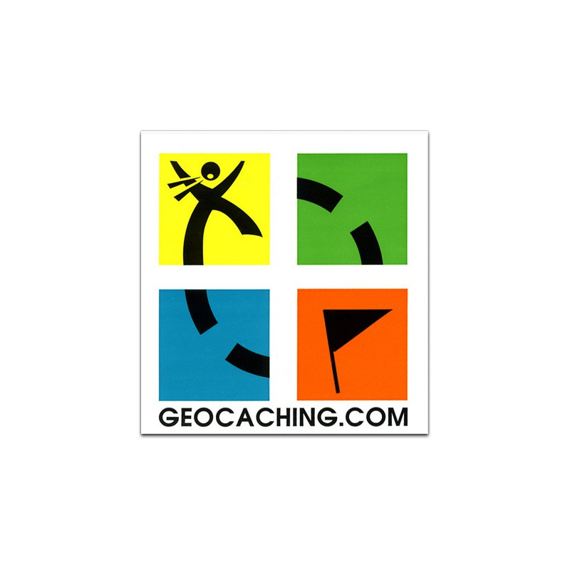 Full color logo sticker geocaching.com 7.5cm x 7.5cm