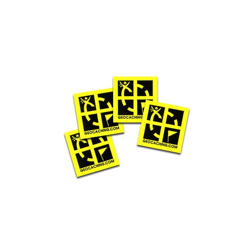 4 x Mini Sticker - Geocaching Aufkleber