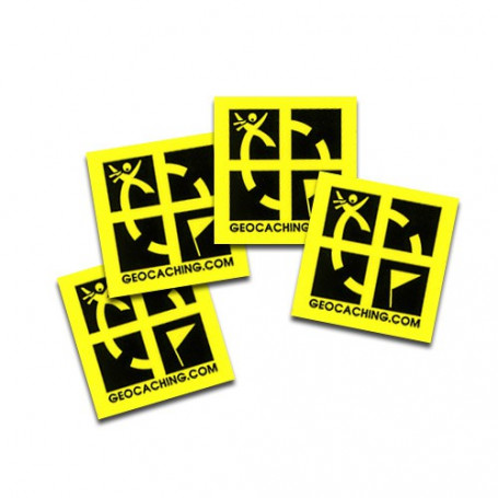 Mini sticker 4 pack yellow 2 x 2 cm