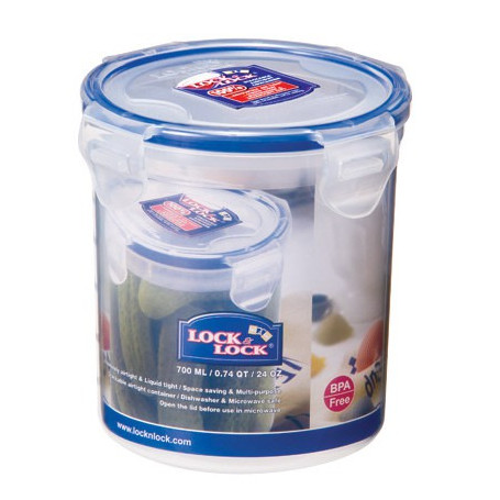 Lock & Lock container 700 ml, rund