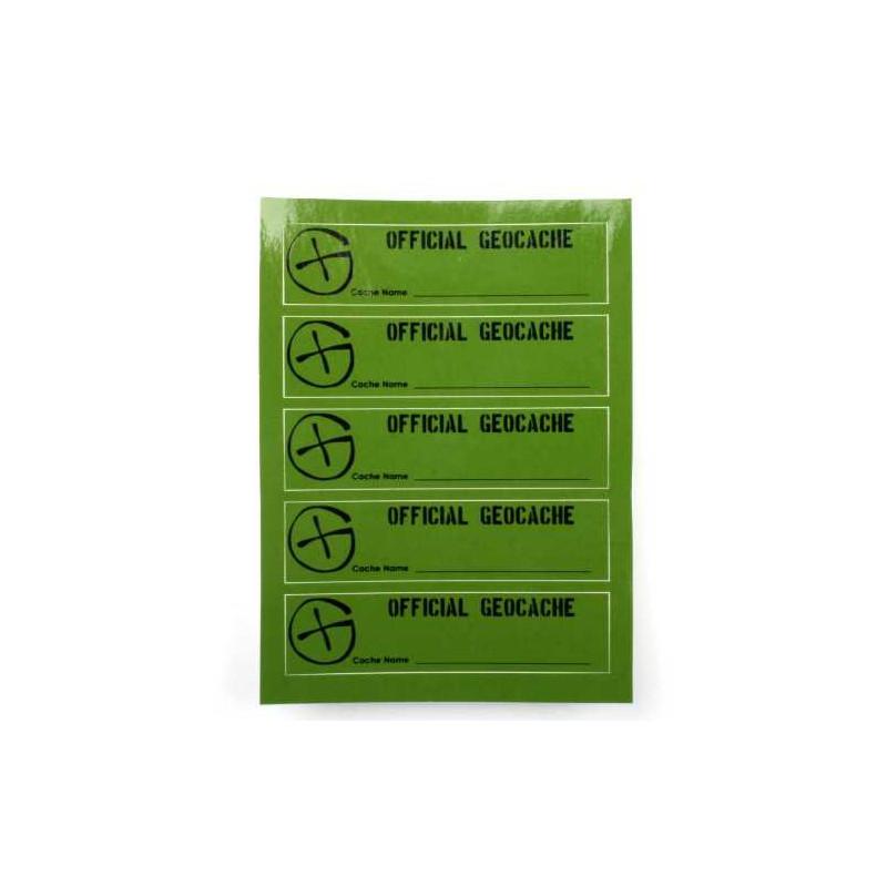 Cache Sticker PETling, 5 stuks