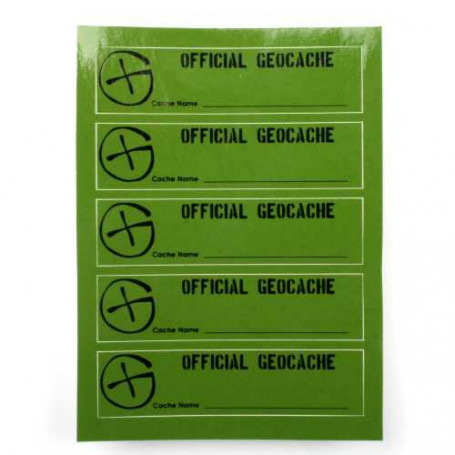 Cache Sticker PETling, 5-er Set