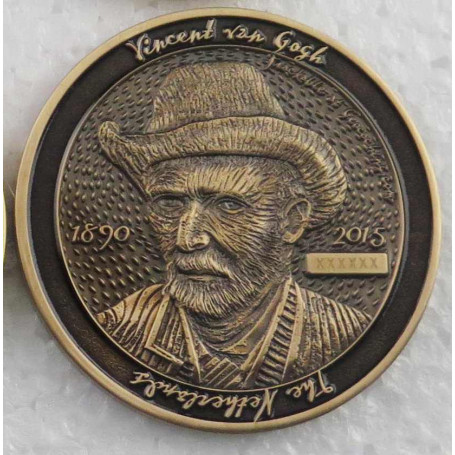 Dutch Geocoin 2015 - Antiek goud - RE - Vincent van Gogh