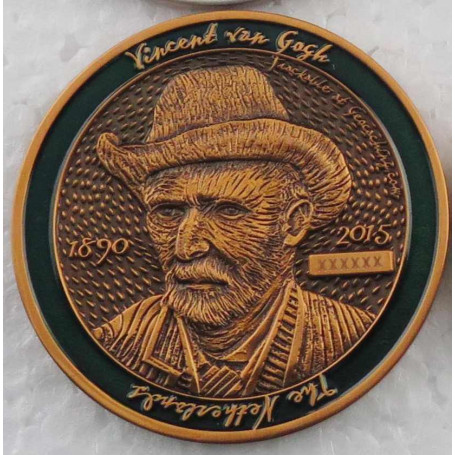 Dutch Geocoin 2015 - Antique copper - XLE - Vincent van Gogh