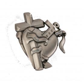 Love-Faith-Hope Geocoin Antikes Silber RE