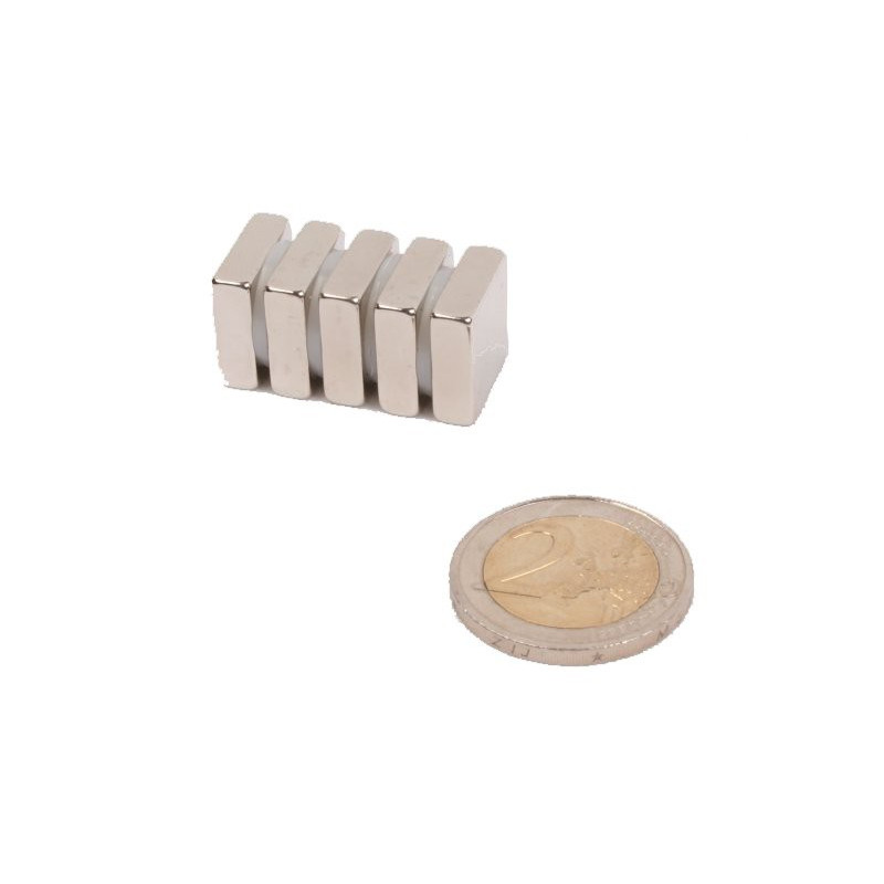 5 pieces 15 mm x 15 mm x 5 mm Neodym Magnets