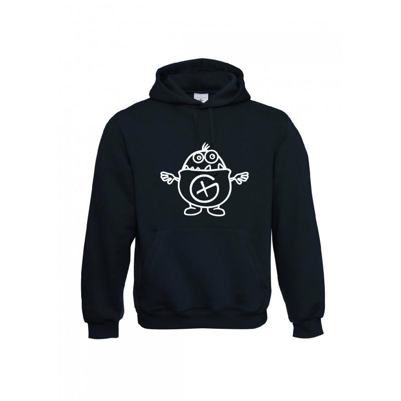 Kleiner Hint, Kapuzen-Pullover (schwarz)