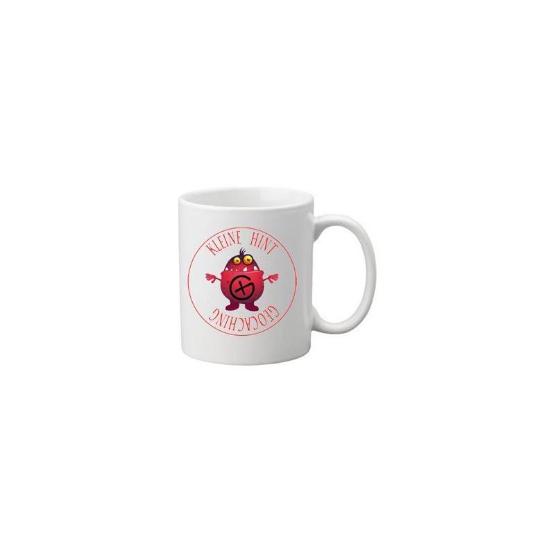 Kleiner Hint - Das Hinweis Monster auf der Tasse